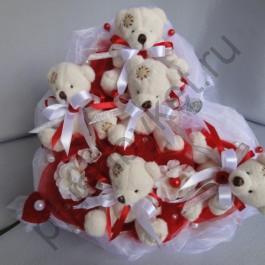 Букет из игрушек БИ147 Свадебный 2