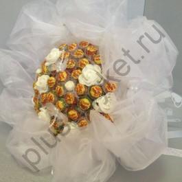 Букет из чупа-чупсов БК200 Свадебный