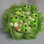 Букет из игрушек БИ169 Весёлые лягушата