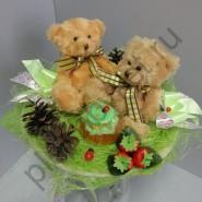 Букет из игрушек БИ171 Медовые мишки
