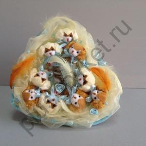 Букет из игрушек БИ167 С рождением 2