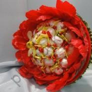 Букет из конфет БК221 Пион с рафаэлло