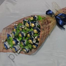 Букет из конфет БК225 Вертикальный с ферерро роше