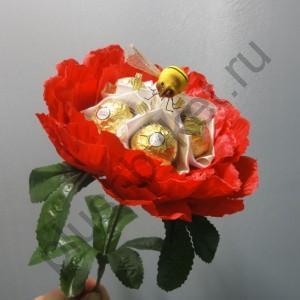 БК238 Пион с конфетами Ферреро Роше