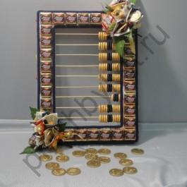 Подарок для бухгалтера букет из конфет БК290 счеты