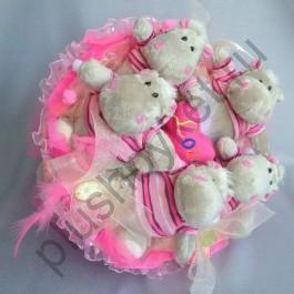 Букет из бегемотов БИ343 розовый