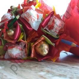 Букет с конфетами и карандашами БК377