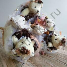 Букет из мишек Шоколад